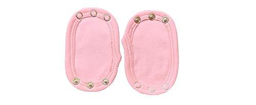 Dtailz Lot de 2 rallonges pour bodys de bébé, longueur réglable, couleur rose