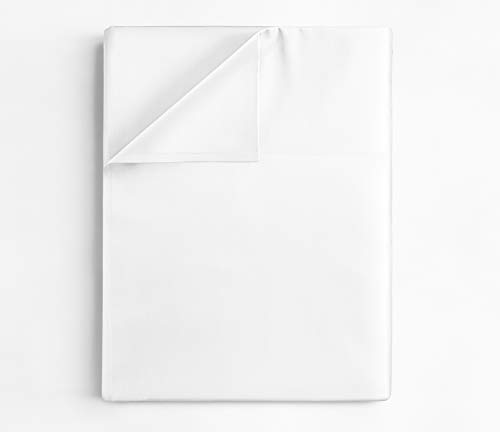 Queen Size Flat Sheet - Single Flat Sheet Queen - Queen Flat Sheet Only - Flat Sheet Deep Pocket - Flat Sheet for Queen Mattress - Softer Than Egyptian Cotton - Queen - 1 Flat Sheet Only