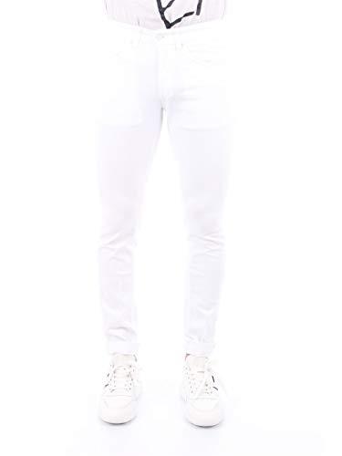 DONDUP Jeans Uomo George UP232 BSE027U PTD DU 000 Cotone Fit Skinny Vita Bassa Stretch Bianco PE20 38