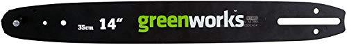 Greenworks repuesto de espada de corte para motosierra, carril guía de 35 cm adecuada para la motosierra G40CS15 de la serie Greenworks de 40 voltios