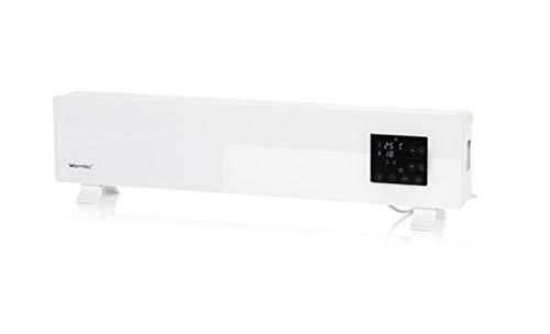 Konvektor Glas Heizgerät 1000 W Heizkörper Thermostat Fernbedienung mobil niedrig Elektroheizung Lüfter