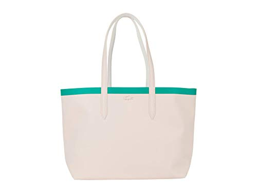 Lacoste Women Contrast Anna Shopping Tote Bag, Flamant Farine Verdier