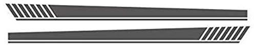 YDL Pegatinas Lado Falda Rayas Coche Puerta Decoración Decoración Pegatinas Auto Cuerpo Personalizado Vinilo Calcomanía Exterior Accesorios para XV AWD Sport (Color : with White Logo, Size : Gray)