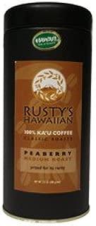 Rusty's Hawaiian Coffee, Ka'u Classic Peaberry 3.5 ounce, Single Origin Whole Bean Coffee