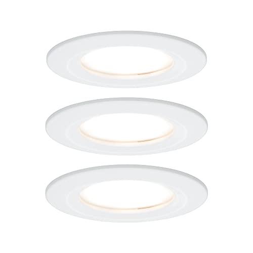 Paulmann Juego Premium Coin Slim, redonda, fija, LED 3x6,8W 2700K 230V 51mm, blanco mate, 93858, foco, luminaria empotrable, 20.4 W, 7.8 x 78 x 5 cm