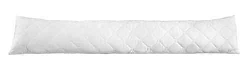 sleepling Seitenschläferkissen Stillkissen aus Softer Mikrofaser 40 x 200 cm, 2.000 Gramm Füllgewicht mit Reißverschluss, weiß
