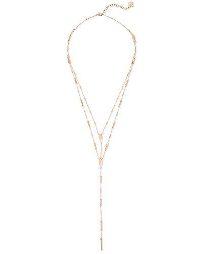 Kendra Scott Adelia Y Necklace for Women, Dainty Fashion Jewelry, 14k Rose...