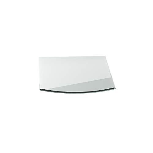 Funkenschutzplatte G6 Segmentbogen ESG 6mm x 1100mm x 850mm mit 18mm Facette Glasplatte Bodenplatte Kaminplatte Funkenschutz Ofenplatte Kaminglas