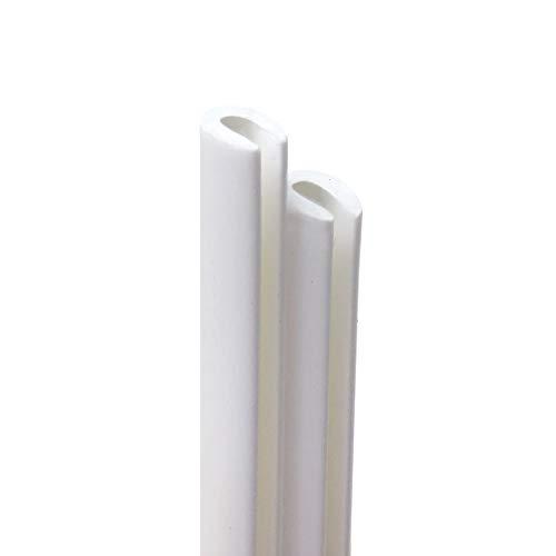 Quattroerre Zic Pare Chocs Profils Porte Saveurs pour Voiture, Blanc, 850 mm, Lot de 2