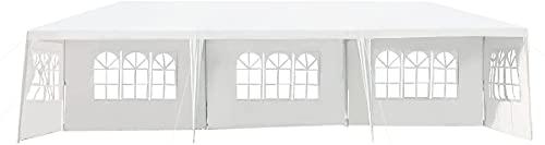 AMEA 3x9 M Gazebo Plegable con Estructura metálica, Tienda de jardín con 5 Lados extraíbles, Fiesta con Ventanas, a Prueba de Agua Faltpavillon, para Bodas Camping de Fiesta