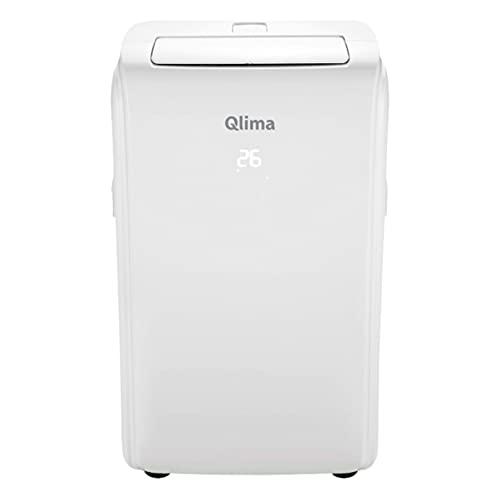 QLIMA Condizionatore portatile con Wi-fi, P528 bianco Qlima, 2-in-1: climatizzatore e deumificatore, 9000 btu, telecomando, 3 velocità