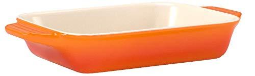 ル・クルーゼ(Le Creuset) 深皿 レクタンギュラー・ディッシュ (L) オレンジ 耐熱 耐冷 電子レンジ オーブン 対応 【日本正規販売品】