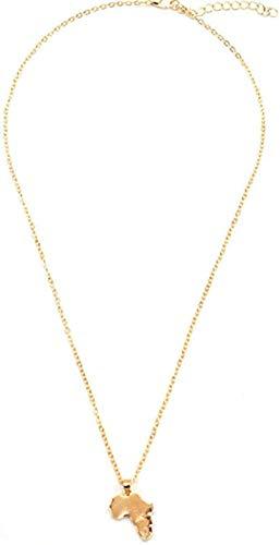 NC110 Collar de Mapa Africano Collares Pendientes de Cadena Larga de Metal Simple para Mujeres Joyería de Cuello YUAHAOJIGE8