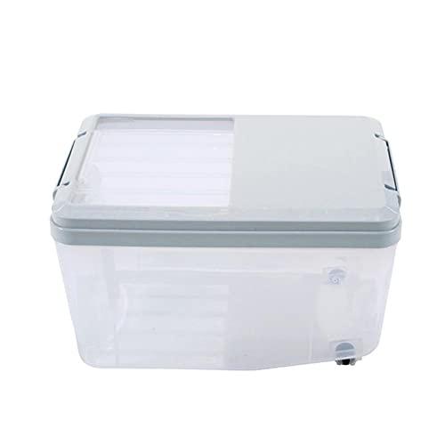 Stoccaggio alimentare sfuso 5 / 10L Plastic Kitchen Box Scatola di immagazzinaggio Cereali Secchio Casella di riso Insetto Resistenza all'umidità Resistenza al riso con tazza di riso misurata Cucina,