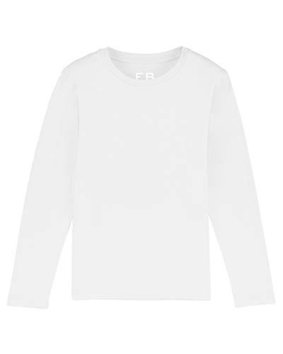 Everbasics Mallorca – Camiseta de manga larga para niños – Ropa de protección contra garrapatas y mosquitos para los pequeños con función de frescor en bonitos colores. Blanco 12-14 Años
