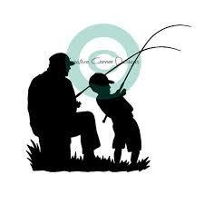 Pegatina Promotion Angler mit Junge Vater Sohn Angeln Autoaufkleber,Wandtattoo, Aufkleber, Waschanlagenfest, Profi-Qualität, Decal,Sticker