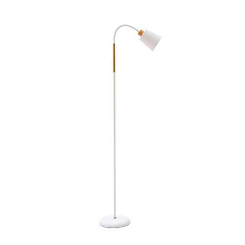 LZY Lámpara de pie de Metal, lámpara de pie de Cuello de Ganso Ajustable con Metal Pesado, luz de Piso para Sala de Estar, Dormitorio, Sala de Estudio y Oficina (Color : Blanco)