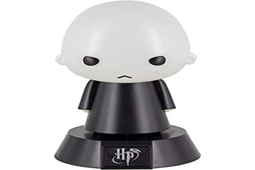 Harry Potter Mini Lámpara Icon Light Voldemort Negro/Gris, Impresa, De plástico, En Caja de Regalo