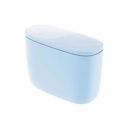 Trash Can Bureau Poubelle Mini ABS protection de l'environnement créatif avec couverture double couche Oblique conception multi-usages ménagers Chambre portable Salon Cuisine Salle de bain Bureau 1 Pi