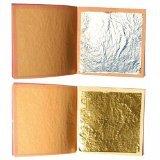 10fogli argento alimentare 4cm di lato +lotto di 10foglia d'oro commestibile 3,5...