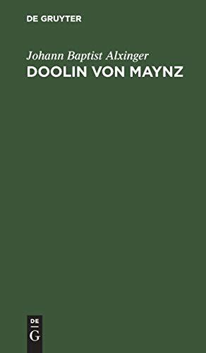 Doolin von Maynz: Ein Rittergedicht