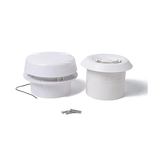 RONGSHU Anhänger Dachluftbelüftung Rundlüftung Fit for RV. Caravan Mini Vent Lüfter mit geräuscharmem und starkem Wind 12V (Color : White)