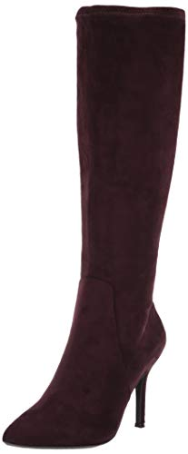 Nine West Women's FETTA Fabric Knee High Boot, Dark Purple, 10.5