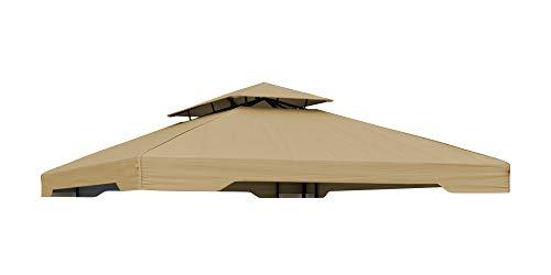 paramondo paratenda Ersatzdach für Deluxe Gartenpavillon 4 x 3 m, beige