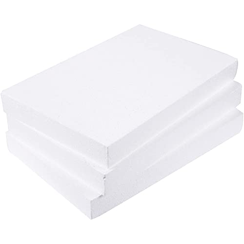 Juvale Foam Rectangles for Crafts (17 x 11 x 2 in, 3 Pack)