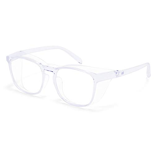 Protective Eyewear Safety Goggles Clear Anti-fog/Anti-Scratch Safety Glasses Men Glasses, Transparent Frame (clear)