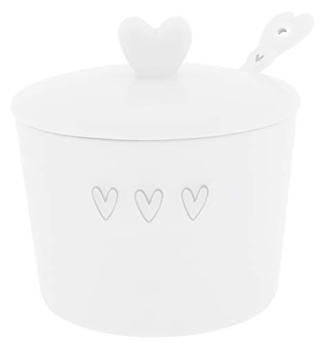 Bastion Collections Zuckerdose 3 Hearts mit Löffel 3tlg. Keramik