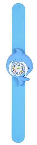 Wild Republic Slap Bracelets, Delfín, Relojes Comcierre Automático, Reloj de Juguete, Educativos, Regalos de Cumpleaños Para Niña, Reloj de Animales, Reloj de Colores, Reloj de Pulsera Infantil