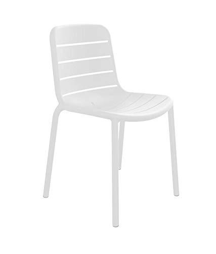 resol Set de 2 sillas de diseño Gina para Interior, Exterior, jardín - Color Blanco