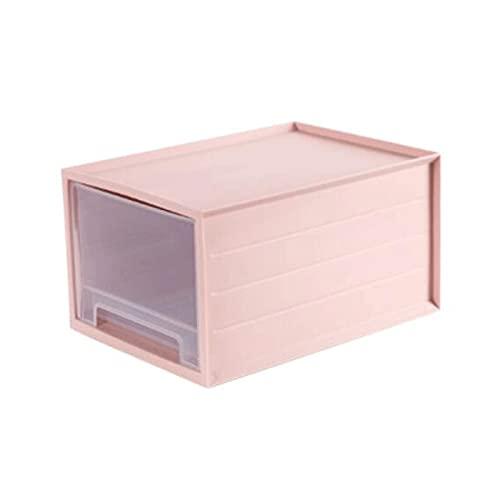 FEIHAIYANYzwl Cestas Almacenaje, 1 unids Pila y Caja de Almacenamiento para Juguetes, artículos de tocador, Ropa, bocadillos y más (14.8x10.8x8.1in), Color: Azul, Rosa (Color : Pink)