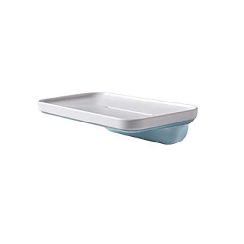 Dabeigouzfeizh La Caja de jabón se Puede Colocar en la Caja de Drenaje de baño, el Material ABS Puede Colgar la Caja de jabón. (Color : Blue)