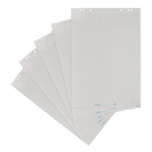 Landré recycling Flipchart-Papier, kariert, mit 20 Blatt je Block, 5er Pack, 400157315
