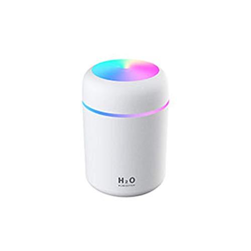 FOHYLOY 300ml Mini Ultrasonic Air Humidifier USB Aroma Diffuser, Portable Humidifier für Zuhause, Yoga, Büro, Weiß