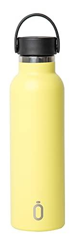 Runbott SOFT Botella Termo Ceramica - Acero térmico sin BPA con Recubrimiento Interno de cerámica (Limón)
