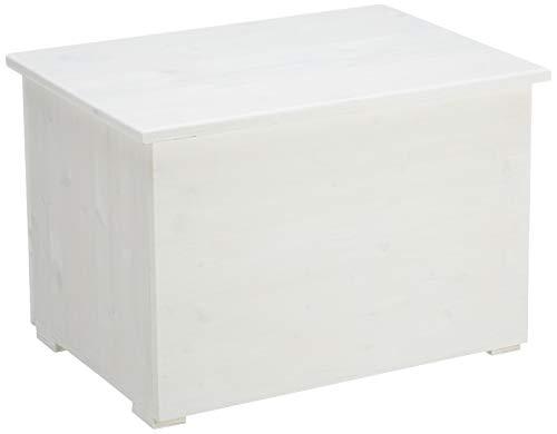 Amico houten CLI60B kist met ritssluiting binnen 60, hout, wit, 64 x 44 x 44 cm