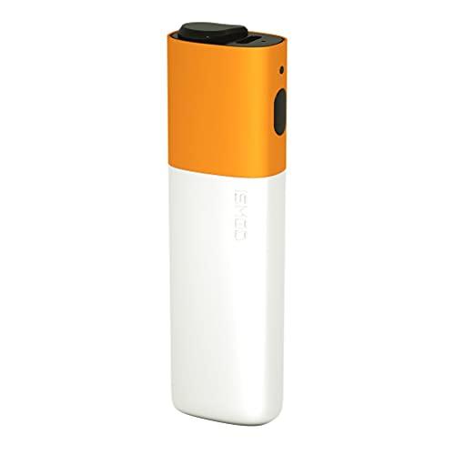 ISMOD Nano Kit – Batería de repuesto de 1500 mAh 3,7 V para calentador de tabaco, cigarrillo electrónico compatible con IQOS, (20 barras con una carga) (Blanco-Naranja)
