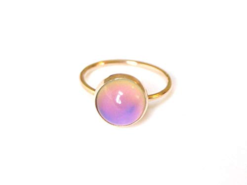 Medium Mood Ring in 14kt Gold