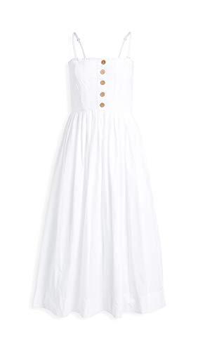 Free People Women's Lilah Pleated Tube Dress, White, Large