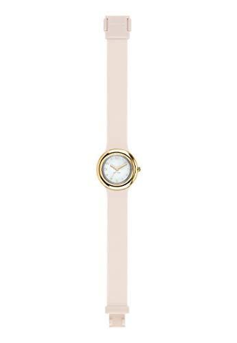 Orologio HIP HOP donna METAL quadrante bianco e cinturino in silicone, metallo bianco, movimento SOLO TEMPO - 3H QUARZO