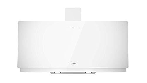Teka Dekorative Dunstabzugshaube | Vertikale Absaugung | DVN 94030 TTC | Glas weiß | 90 cm