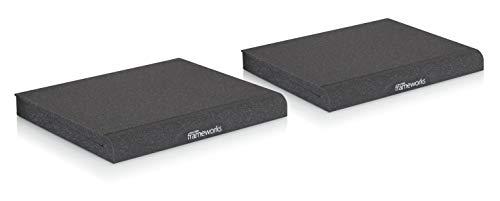 Gator Frameworks Acoustic Foam Isolation Pads for Large Studio Monitors, Fits Most Speaker Stands, Desktops and Bookshelfs; 2-Pack (GFW-ISOPAD-LG)