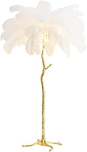 GAOXQ Lámpara De Pie De Plumas LED Lámpara De Pie De Plumas De Avestruz Moderna Arte De Hierro Creativo Sala De Estar Estudio Dormitorio Lámpara De Pie