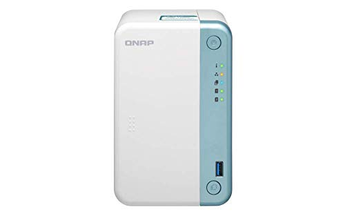 QNAP TS-251D Collegamento ethernet LAN Torre Bianco Nas TS-251D, HDD & SSD, Seriale ATA II, Serial ATA III, 3.5', 0,1,JBOD, FAT32,HFS+,NTFS,ext3,ext4, 2 GHz