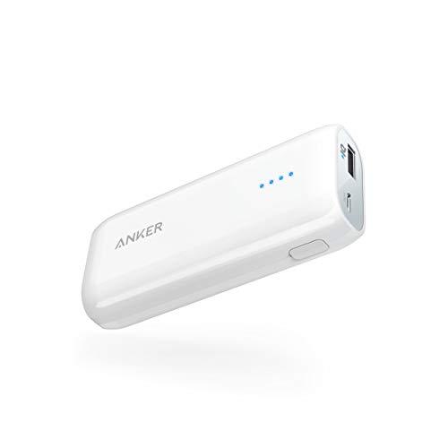 Anker Powerbank Astro E1 6700 mAh Externer Akku, Extrem Kompaktes USB Ladegerät mit PowerIQ für iPhone 7 7+ 6s 6 Plus SE, iPad, Samsung Galaxy und Weitere Smartphone - Weiß