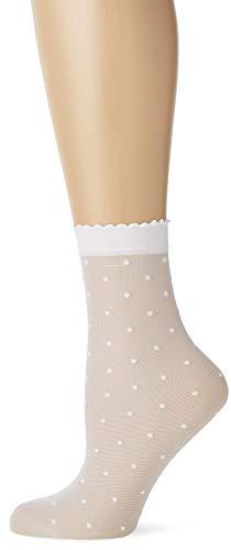 FALKE Damen Dot W SO Socken, 15 DEN, Weiß (White 2209), 35-38
