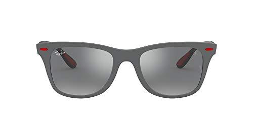 Ray-Ban 0RB4195M Gafas de sol, Matte Grey, 52 para Hombre